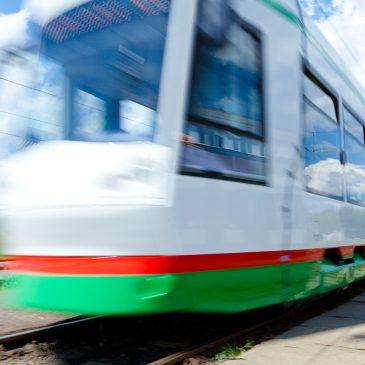 Aktuelle Straßenbahn der MVB