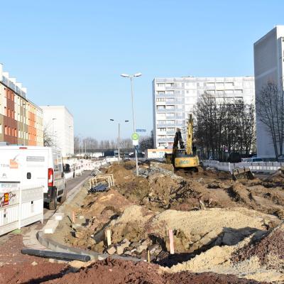 Bauarbeiten im Kannenstieg (Fotoaufnahme vom 13.12.2019)