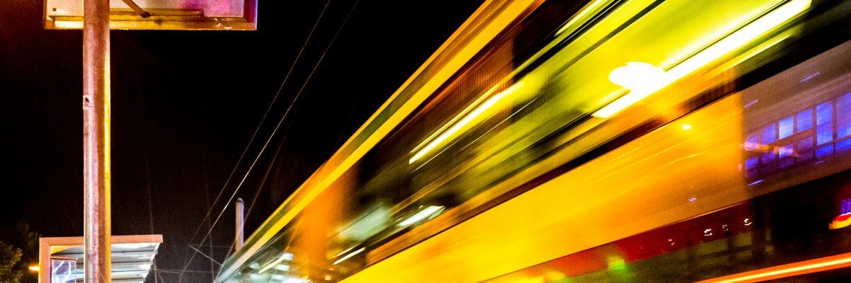 MVB-Nachtbus im Nachtverkehr (Foto: Andreas Lander)