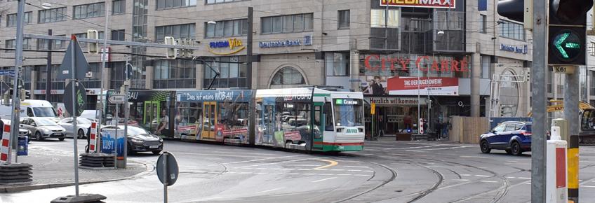 Kreuzung am City Carré