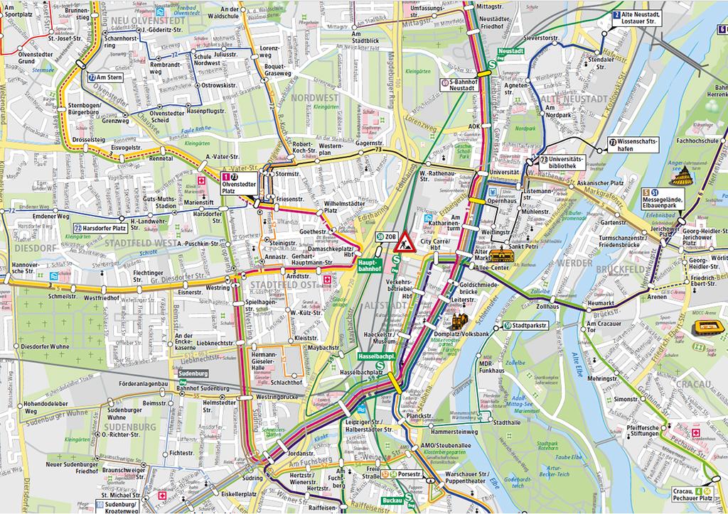 Interaktiver Liniennetzplan von marego