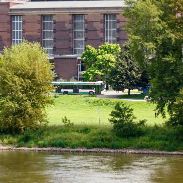 Buslinie 59 im Stadtpark (Foto: Stefan Deutsch)