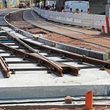 Bauarbeiten in der Schönebecker Straße (Foto: Peter Gercke)