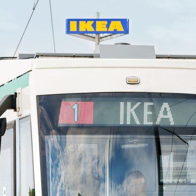 Straßenbahnlinie 1, Endstelle IKEA
