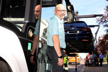 Busfahrer Heino Roloff