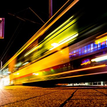 MVB-Nachtbus an der Haltestelle Alter Markt (Foto: Andreas Lander)