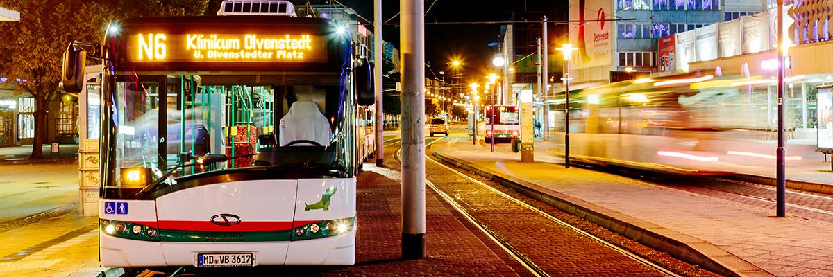 Nachtbus N6 am Alten Markt (Foto: Stefan Deutsch)