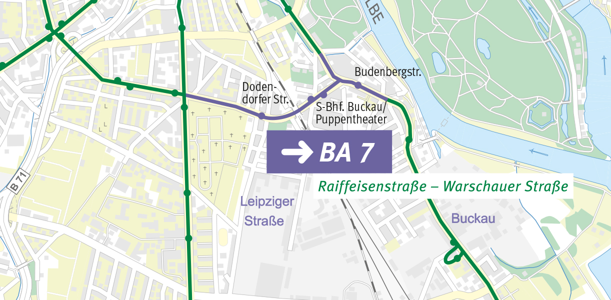 Karte zum Bauabschnitt 7