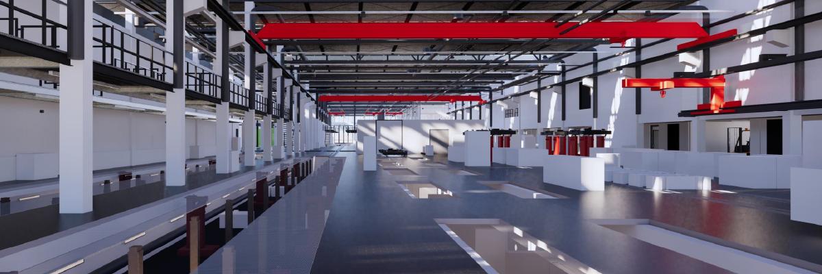Werkstatt im neuen Betriebshof Nord