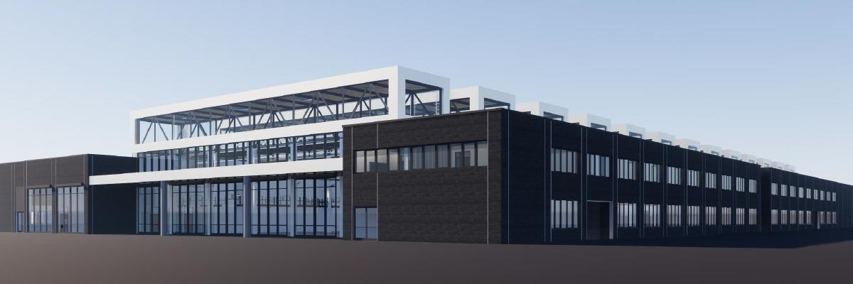 Werkstattgebäude des neuen Betriebshofes Nord