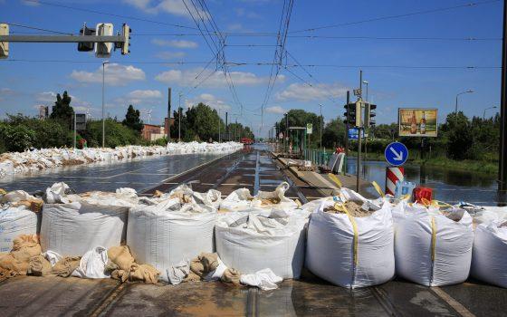 Hochwasser 2013 - Magdeburg Rothensee, Foto: Peter Gercke