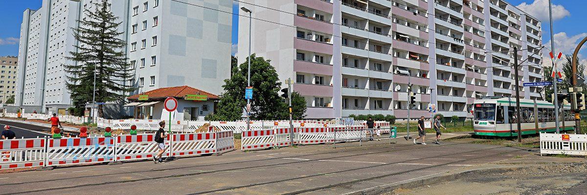 Kreuzung Ebendorfer Chaussee / Johannes-R.-Becher-Straße (Foto: Peter Gercke)