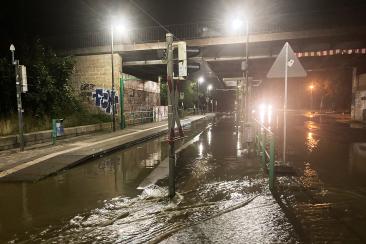 Wasserrohrbruch am Dienstagabend (31. August 2021)