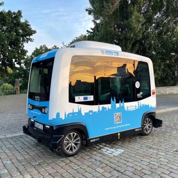 "Automatisierter Shuttlebus ""Elbi"" (Foto: Andreas Gürtler, MD)"
