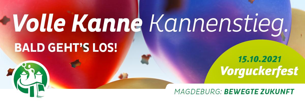 """Einladung zum Vorguckerfest """"Volle Kanne Kannenstieg"""""""