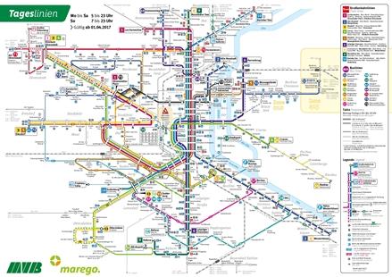Tagesliniennetz, gültig ab 1.4.2017