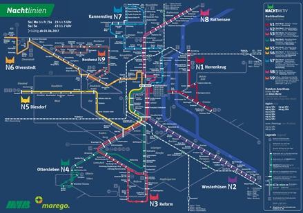 Liniennetz Nachtverkehr