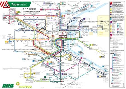 Tagesliniennetz, gültig ab 15.8.2019