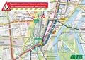 Innenstadtplan nach Havarie der Weiche am Hasselbachplatz