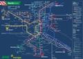 Liniennetzplan Nachtverkehr, gültig bis 8.8.2018