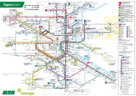 Tagesliniennetz, gültig ab 3.12.2018